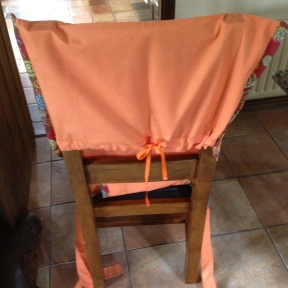 Rear view of toddler seat