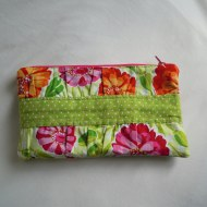 Gathered zip purse